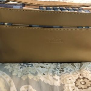 Longchamp Classic Tan Leather purse with strap